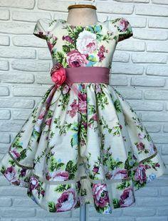 Little Dresses, Little Girl Dresses, Girls Dresses, Cotton Frocks For Girls, Toddler Dress, Baby Dress, Dress Anak, Kids Gown, Sewing Patterns Girls
