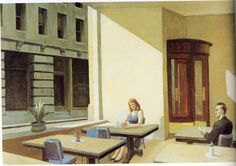 Sunlight in cafetaria Edward Hopper