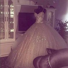 Glittery wedding dress