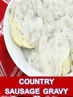 COUNTRY SAUSAGE GRAVY | ~1~ Food Recipe Collection Breakfast Sausage Links, Breakfast Gravy, Homemade Breakfast, Eat Breakfast, Country Gravy Mix Recipe, Homemade Dry Mixes, Pepper Gravy, Sausage Gravy Recipe, Easy Gravy