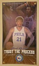 "Joel Embid Philadelphia 76ers Vinyl Flag Picture Banner 20""×36"" NBA Man Cave USA"