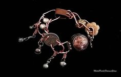 Carrying the Sacred- OOAK Ghau prayer box -functional- pumtek, copper and bells assemblage bracelet- jewelry art
