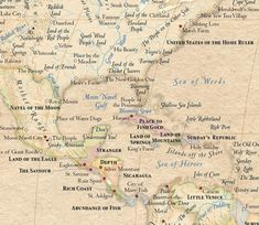 A World Map with Locations Replaced with Their Original Meanings