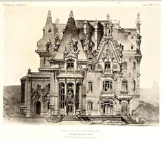Elevation for a suburban residence, France