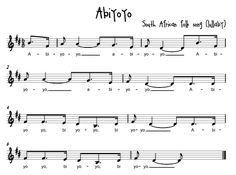 Beth's Music Notes: African Folk songs