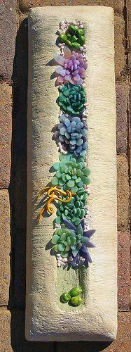 Mosaic succulents by susiebarrymosaics              #mosaic #flowers