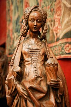 A beautiful wood-carved statue of Saint Mary Magdalene from Brussels, c.1566. - National Museum of the Middle Ages, Paris