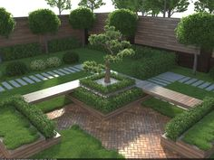 Super Ideas For House Modern Architecture Courtyards Architecture Courtyard, Architecture Plan, Landscape Architecture, Landscape Design, Garden Design, Landscape Art, Flower Landscape, House Landscape, Landscaping Trees