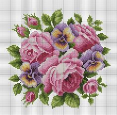 Roses and pansies chart