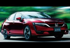 Car Honda Clarity Fuel Cell 2016 Red Body Windshield Hood Bonnet Wiper Door Handle Wing Side Mirror Headlight Bumper Wheel Tyre 6 (2016) Part 2