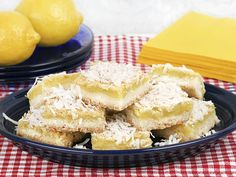 Coconut sugar lemon squares have set a new high bar for lemon desserts. This recipe finds that perfect balance of sweetness and bright citrus tanginess that lemon lovers crave. Lemon Coconut Bars, Coconut Recipes, Lemon Bars, Baking Recipes, Dessert Recipes, Coconut Sugar, Dessert Cups, Baking Ideas, Brunch Recipes