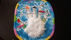 Mon école, c'est chez moi ...: Petits bonshommes de neige