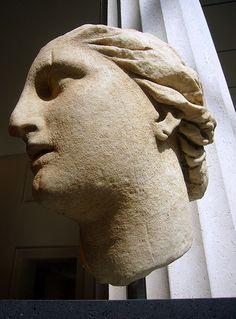 Marble Head of Athena  Greek, Hellenistic, ca. 200 B.C.