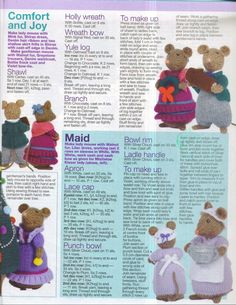 images attach c 4 79 623 Animal Knitting Patterns, Crochet Dolls Free Patterns, Christmas Knitting Patterns, Stuffed Animal Patterns, Amigurumi Patterns, Crochet Toys, Knitting Wool, Baby Knitting, Baby Born Kleidung