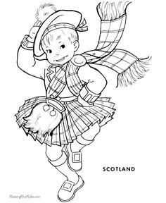 Scottish piper colouring page | Scotland/England Trip | Pinterest ...