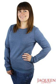 Sweatshirts - Pullover blau uni - ein Designerstück von…