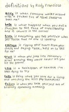 Love the ones for faith and failure