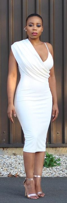 Ecstasy Models — All White Slay Fashion Trend. Sexy Dresses, Cute Dresses, Beautiful Dresses, Cute Outfits, Summer Dresses, Amazing Outfits, 50s Dresses, Elegant Dresses, Party Dresses