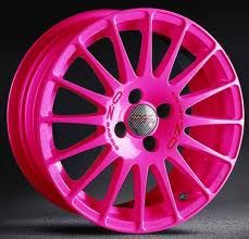 pink rims <3 for a 1999 Chevy silver-ado lifted <3