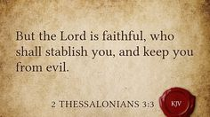Daily Bible Verse 2 Thessalonians 3:3