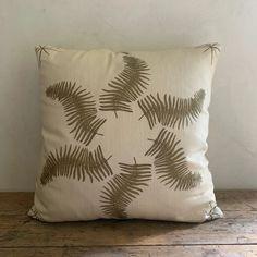 """LL textiles """"fern star"""" pillow – Lauren Liess Lauren Leiss, Boho Pillows, Throw Pillows, Water Tub, Fern Frond, Jack Johnson, Wood Bridge, Star Designs, Ferns"""