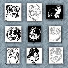 Australian Shepherd Silhouettes Sticker Australian Shepherd - Custom vinyl stickers australia   the advantages