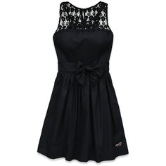 Hollister Co Shelter Islands Dress (110 BRL) ❤ liked on Polyvore featuring dresses, vestidos, robes, black, keyhole dress, embroidered cotton dress, kohl dresses, bow dress and embroidered dress