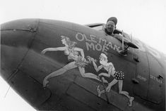 """Nose Art of the Southwest Pacific Area - """"Ole Man Moe"""", Service Squadron - Frederick German Collection Nose Art, Memphis, Pin Up, Art Through The Ages, Aircraft Painting, Airplane Art, Military Art, Military History, Aviation Art"""