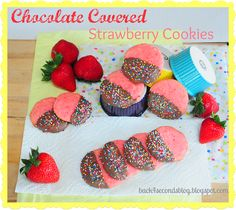 Chocolate Covered Strawberry Cookies   Wow! Looks amazing!