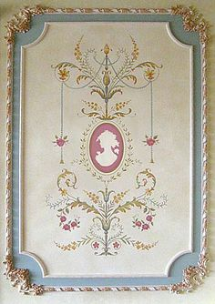 Marie-Antoinette Grand Panel Stencil See more Classical Stencils: http://www.cuttingedgestencils.com/classical-stencils-for-walls.html