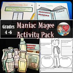 Maniac Magee by Jerry Spinelli Activity Pack!                              …