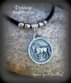 Dressage horse braided necklace by EquusSpiritJewellery on Etsy, £20.00
