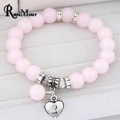 Pulseras Mujer Masculina Glass Beads Bracelets & Bangles for Women Men Jewelry Silver Plated arm Pulseira Femme Bijoux