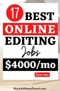 Looking for the best online copy editing jobs to make extra money? Here's a list of companies with freelance editing jobs for beginners and pros.