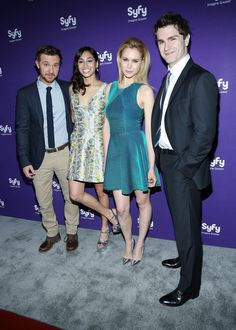 """Cast of """"Being Human"""" Sam Huntington, Meaghan Rath, Kristen Hager and Sam Witwer attend Syfy 2013 Upfront"""
