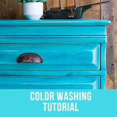 Color Washing Technique for Painted Furniture — Roots & Wings Furniture LLC Teal Painted Furniture, Colorful Furniture, Paint Furniture, Furniture Makeover, Cool Furniture, Blue Furniture, Refurbished Furniture, Color Washed Wood, Furniture Painting Techniques