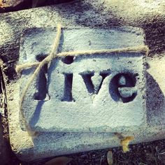 live a simple word cast into concrete by yoliesquer on Etsy, $10.00