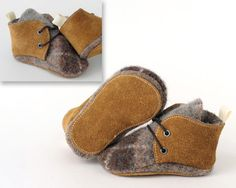 Leather and Wool Baby Shoes,Toddler Shoes, Slippers, First Walking Shoes, Kid Shoes by Ollie and Tate on Etsy