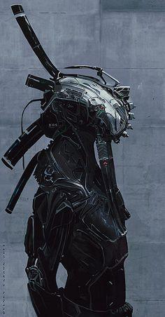 Cyberpunk via scifi-images Character Concept, Character Art, Concept Art, Character Design, Arte Ninja, Arte Robot, Norman Rockwell, Science Fiction, Rude Mechanicals