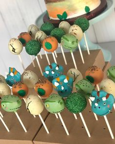 Another one of the most challenging orders I've had thus far. Dinos and Dino eggs, with a chocolate dinosaur themed dripped cake,…