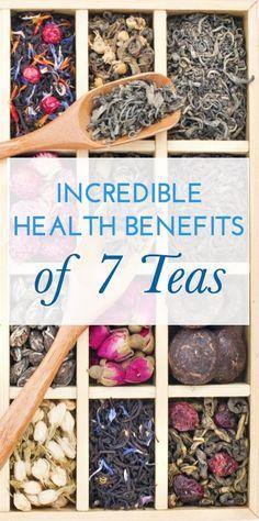 Incredible Health Benefits of 7 Types of Tea - Yogi Green Tea Blueberry Slim Life http://www.homesteadsurv...