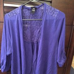Royal blue cover up Cute cover up lace over the shoulders in the back. Royal Blue cover up. Torrid size 1 Torrid Tops