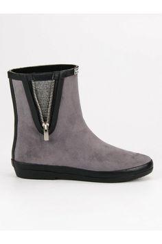 Sivé gumaky s ozdobným zipsom Kylie Kylie, Chelsea Boots, Tommy Hilfiger, Ankle, Shoes, Fashion, Moda, Zapatos, Wall Plug
