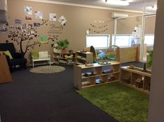 Toddler Daycare Rooms, Infant Toddler Classroom, Daycare Spaces, Childcare Rooms, Home Daycare, Preschool Rooms, Daycare Ideas, Preschool Classroom, School Ideas