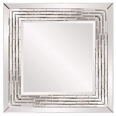 Howard Elliott Mila Square Modern Mirror 35H x 35W x 2D - 29003