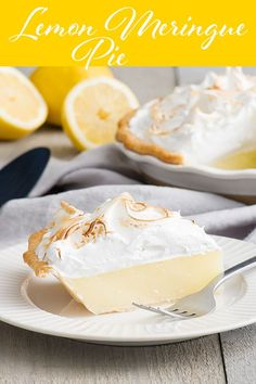 The filling in this lemon meringue pie is beautifully creamy. Not too sweet, not too tart. Pile the meringue high and brown with a blow torch or under the broiler for an added wow factor. Tart Recipes, Snack Recipes, Dessert Recipes, Fruit Dessert, Sweet Pie, Sweet Tarts, Lemon Meringue Pie, Delicious Fruit, Dessert For Dinner