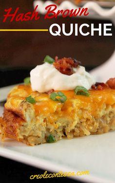 Hash Brown Quiche with Bacon-Creole Contessa