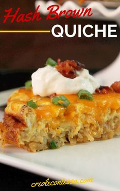 Hash Brown Quiche with Bacon