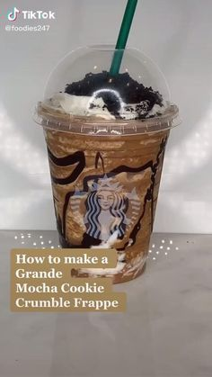 Bebidas Do Starbucks, Healthy Starbucks Drinks, Yummy Drinks, Yummy Food, Fun Baking Recipes, Dessert Recipes, Coffee Drink Recipes, Tasty Videos, Starbucks Coffee