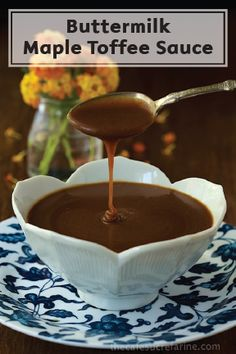Do you have 20 minutes? That's all the time you need to put together this rich, decadent, and super delicious Buttermilk Maple Toffee Sauce to pair with all of your favorite dessert recipes.